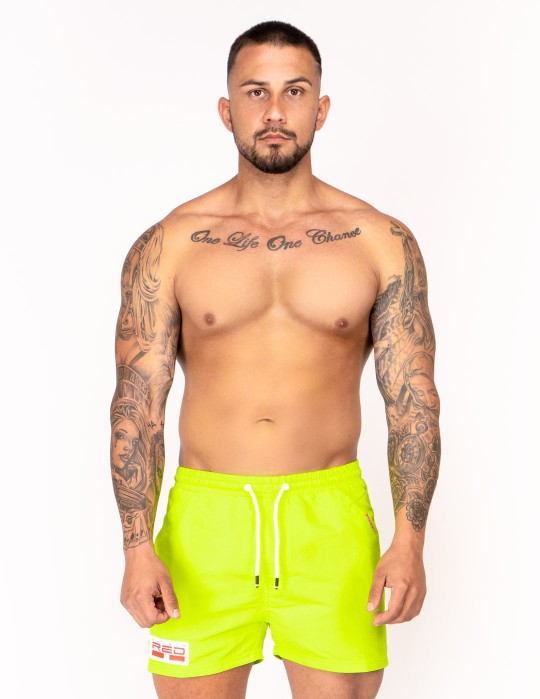 DOUBLE RED Aqua Swimshorts Yellow