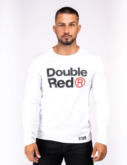 Red Neon Long Sleeve T-Shirt White