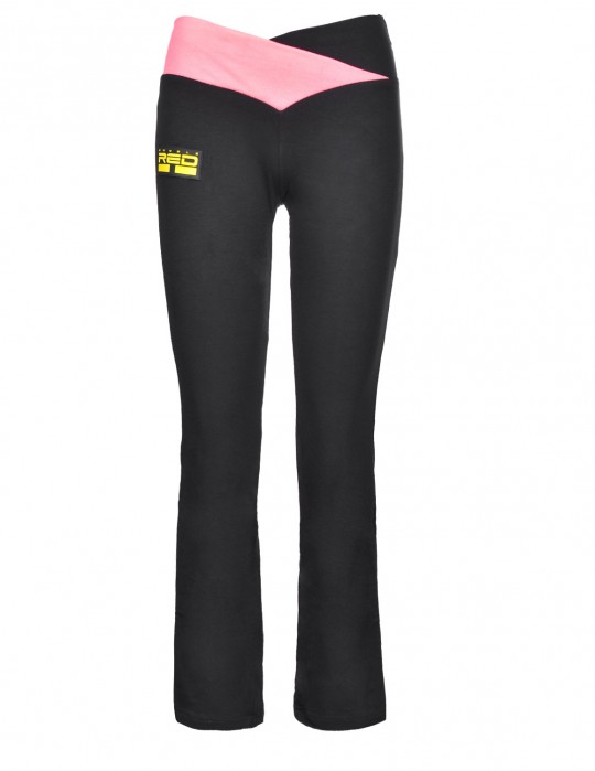 Leggins SPORT IS YOUR GANG Geometric 3D Logo Black/Pink