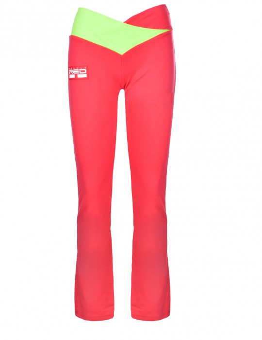 Leggins SPORT IS YOUR GANG Geometric 3D Logo Red/Green