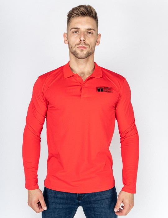 Red Polo King Sleeve Red