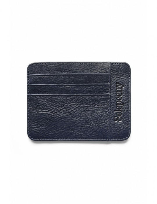 SY SELEPCENY DARKBLUE 100% GENUINE LEATHER CARDHOLDER