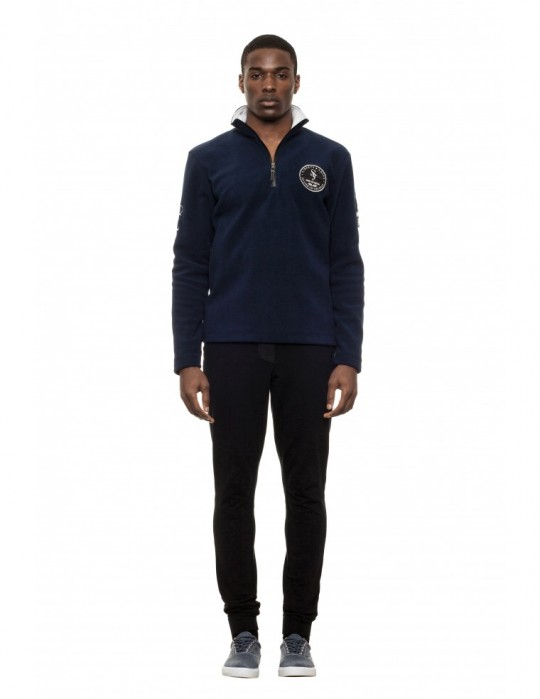SEAMAN BLUE 100% FINE FLEECE CLOSURE SWEATSHIRT