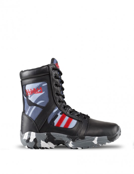 Boots Black Camo Red Desert
