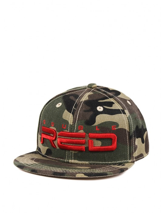 REDKID Snapback DOUBLE RED Cap Green Camo