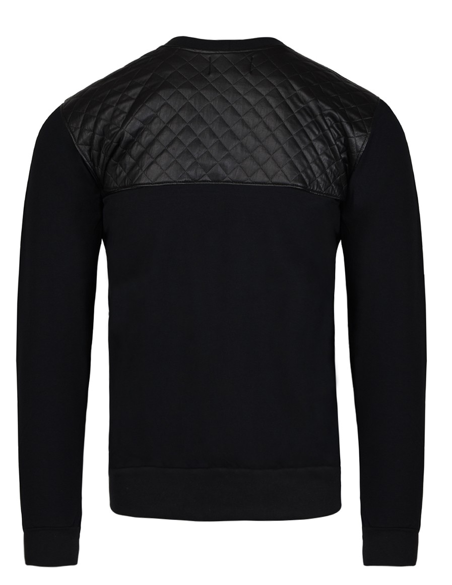 SELEPCENY Cotton Sweatshirt Black