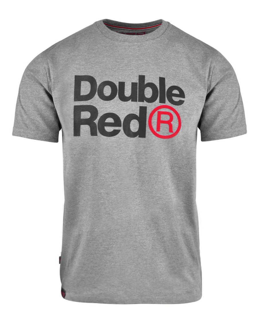 DOUBLE RED Trademark T-shirt Grey