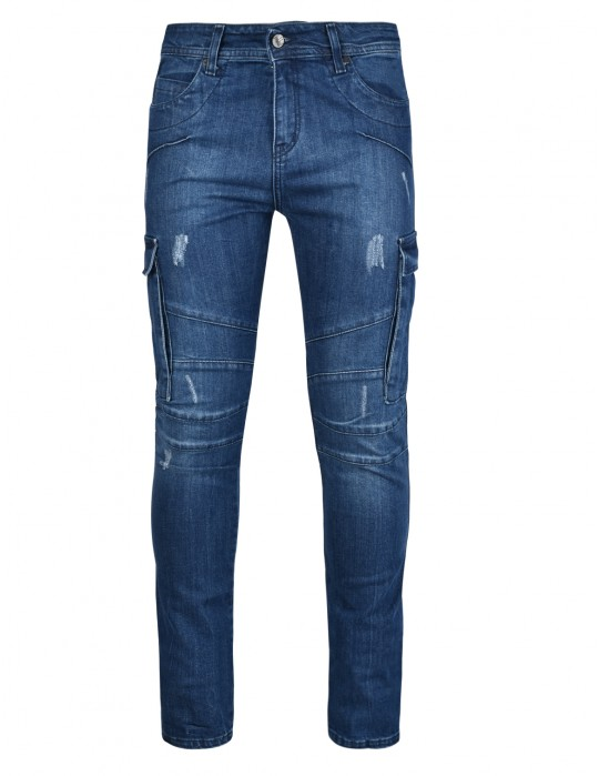 STREET HERO Skinny Fit DOUBLE RED Jeans