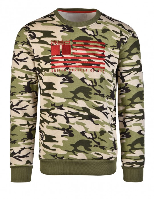 United Cartels Of Red UCR Green Camo Sweatshirt