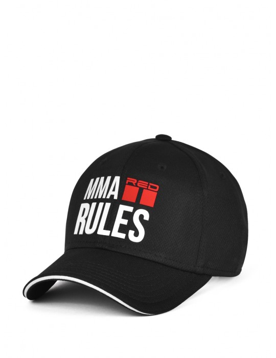 MMA RULES Black/White Cap