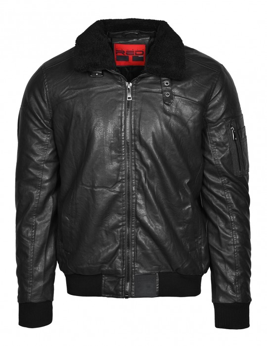 WRAITH Leather Jacket Black