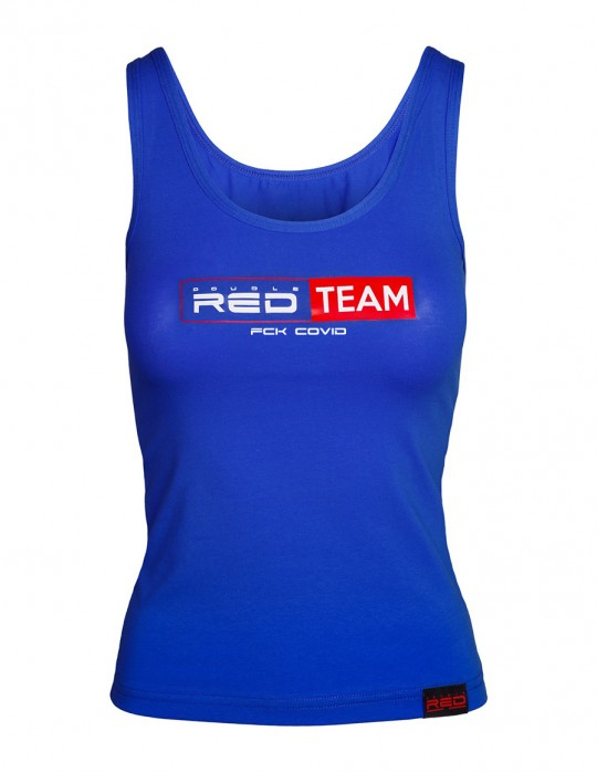 FCK Covid RED TEAM Tank Top Royal Blue