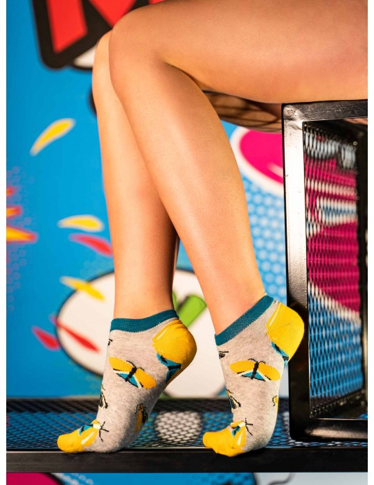 Women's Low Cut FUN Socks Night Butterfly
